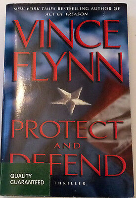 VINCE FLYNN...PROTECT AND DEFEND Large Paperback Book