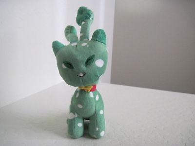 "7"" Neopets Kitty Green Cat Plush~Speckled Aisha"