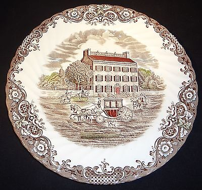 "Heritage Hall Georgian Town House Ironstone Staffordshire England 9 3/4"" Plate"