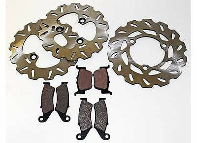 2004 2005 HONDA TRX450R TRX 450 R FRONT AND REAR BRAKE PADS AND WAVE ROTORS