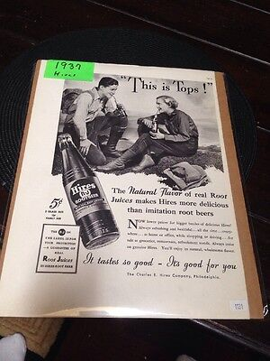 "1937 Hires rootbeer ""This Is The Tops"""