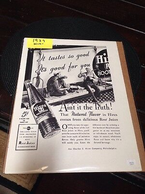 "1937 Hires Rootbeer ""Ain't It The Truth"" Ad"
