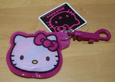 HELLO KITTY  KEY CHAIN W/ COIN PURSE CONTAINING 12 SHAPED RUBBER BAND BRACELETS