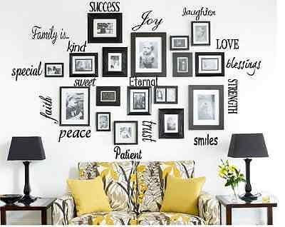 FAMILY IS Vinyl Lettering Words Wall Art Quote Sticky Decals