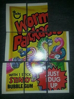 1973 Topps Wacky Packages 4th Series Bum/Choke Checklist Puzzle 8/9 card set