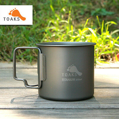 Toaks Titanium Cup Lightweight Water Cup Mug Outdoor Camping Backpack Cup 375ml