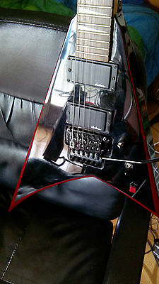 CHITARRA / ELECTRIC GUITAR JACKSON KELLY V JS 30RR FLOYD ROSE RED limited edit