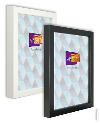 Box Picture Photo Frame, Black, White - Made in the UK. Chunky moulding!