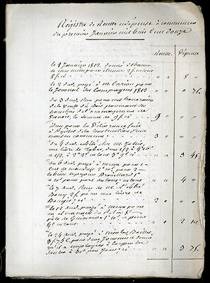 1812 - handwritten early 19th century account book