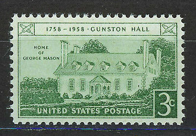 ESTADOS UNIDOS/USA 1958 MNH SC.1108 Gunston Hall