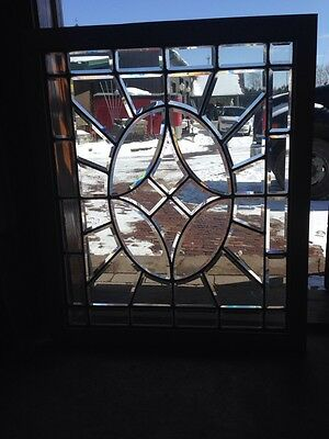 Sg 123 Antique All Beveled Glass Window 30 X 36