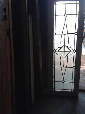 Sg 128 Antique Transom Window With Beveled Center Lots Of Texture