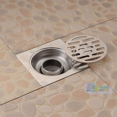 Stainless Steel Square Waste Deodorizing Floor Drain Cover Kitchen Bathroom New