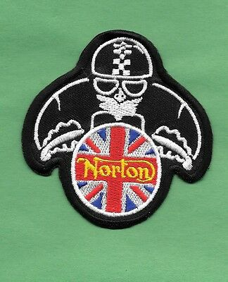 "New Norton Mortorcycle British 'Man' 3 X 3 ""inch Iron on Patch Free Shipping"