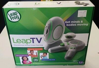 LEAPFROG LEAP TV Educational Video Game System with Bonus Game-NIB with Tags