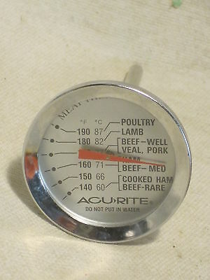 Vintage ACU-RITE ALL PURPOSE  Meat  thermometer cook chef gauge poultry pork