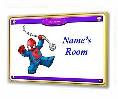 LEGO SPIDERMAN WOODEN DOOR PLAQUE 10 X 15cm