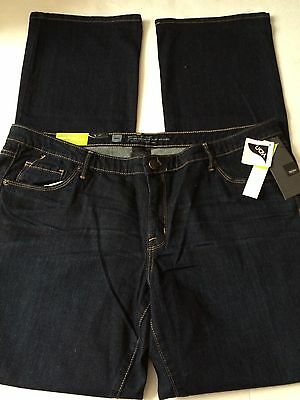 Mossimo Womens Dark Wash Mid Rise Modern Fit Stretch Denim Jeans Size 18Long NWT