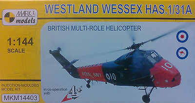 Westland Wessex HAS.3/3A, 1:144, Mark 1 Model, 4 Decal Versionen, NEU!