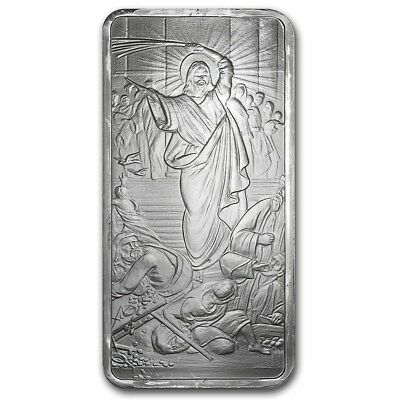 Silver Shield Jesus Clears The Temple 10 oz Silver US Made Capsuled Bullion Bar