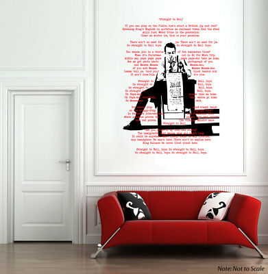 "JOE STRUMMER Wall Decal 28"" x 40"" The Clash Punk Rock UK Art Home Decor"