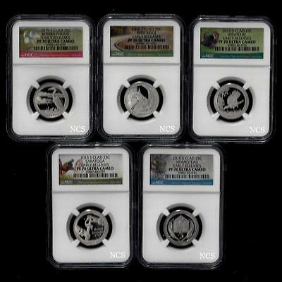 2015 S America the Beautiful National Parks Clad Mint Set of 5 ~ NGC Proof 70