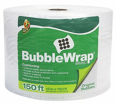 Duck Brand Bubble Wrap Original Protective Packaging Size: 12 in. x 150 ft. OOO