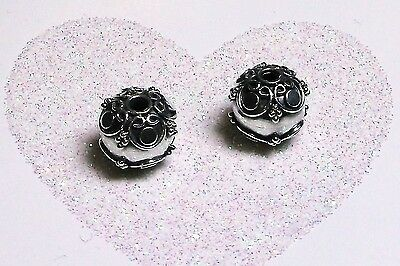 BALI .925 STERLING SILVER 10mm ROUND ORNATE FOCAL BEAD #1137 - (1)