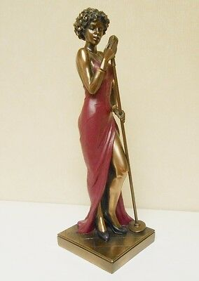 NEW Bronze Female African American Music Singer Sculpture Veronese Studio