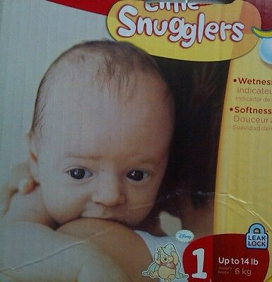 Huggies Little Snugglers Diapers Disney Pooh 72 Count pack Size 1 Up To 14 LB