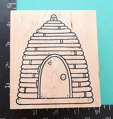 Great Impressions * BEE HIVE w DOOR * Large BeeHive Rubber Stamp