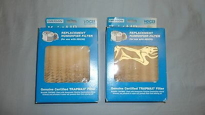 Lot of 2 Emerson MoistAIR HDC23 Humidifier Filters for use with HD230 Trapmax