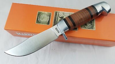 """Marbles Fixed Blade Hunter Knife 8 1/2"""" Leather Wrap Handle Hunting + Sheath 248"""