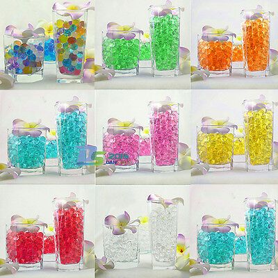 Pearl shaped Water Crystal Soil Jelly Mud Plant Gel Balls Beads Wedding Decor