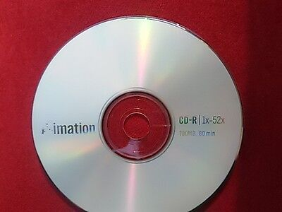 1 Imation CD-R 700MB 52x 80min Blank Disk Write Once Recordable Disc