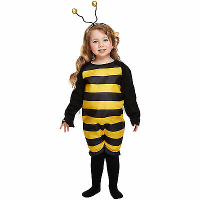 Bumble Bee Costume Fancy Dress Outfit Toddler 2-4 Years Wings Child Childrens