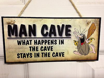 Chic Man Cave sign plaque WATERPROOF Outdoor great gift