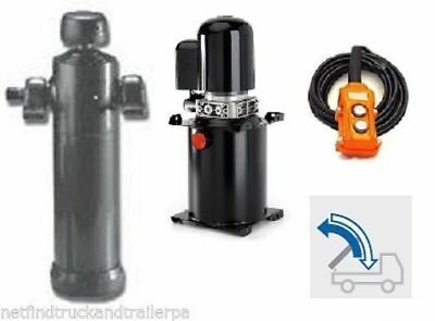 Underbody multi stage hydraulic cylinder & 12V powerpack suits trailers 125/5/24