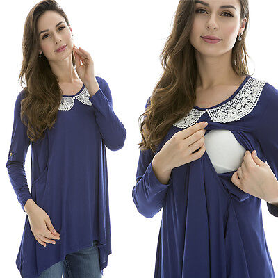 New Maternity Nursing Breastfeeding Clothes Fall Pregnancy Wearing Nursing Tops