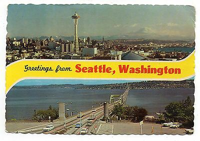 Greetings From Seattle Washington, Vintage 4 x 6 Postcard, Sep