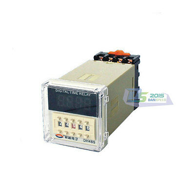 220V AC Programmable Digital Delay Relay Delay Timer DH48S AC/DC Time Mode S/M/H