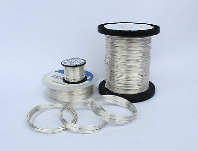 SILVER PLATED COPPER WIRE BUNDLE 0.4mm / 0.6mm / 0.8mm / 1mm / 1.25mm CRAFT