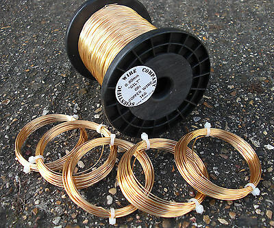 GILT /gold colour WIRE BUNDLE 0.4mm / 0.6mm / 0.8mm / 1mm / 1.25mm CRAFT wire