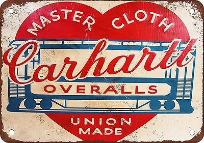 1930 Carhartt Overalls Vintage Look Reproduction Metal Sign