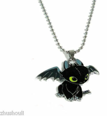 How To Train Your Dragon Toothless Pendant Metal Necklace Chain NEW