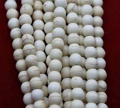 200pcs/6mm/ Beautiful white turquoise charm spacer beads