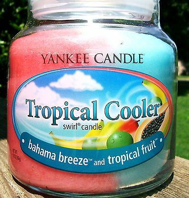 "Yankee Candle""TROPICAL COOLER"" Bahama Breeze & Tropical Fruit MEDIUM SWIRL NEW!!"