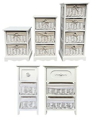Shabby Chic Slim Narrow Wide Chest of Drawer Hallway Bedside Table Unit Cabinet