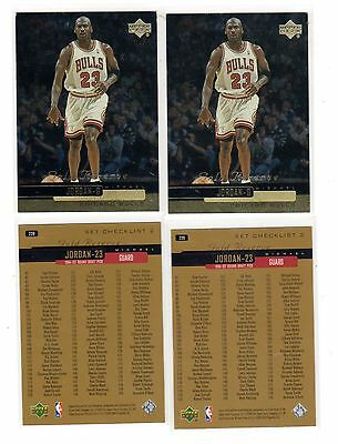 Chicago Bulls Card 1999 Upper Deck Gold Reserve #239 Michael Jordan Checklist
