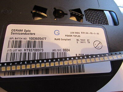 LCWE6SG OSRAM Power TOPLED Warm White LED PLCC-4,  50 Pieces cut tape